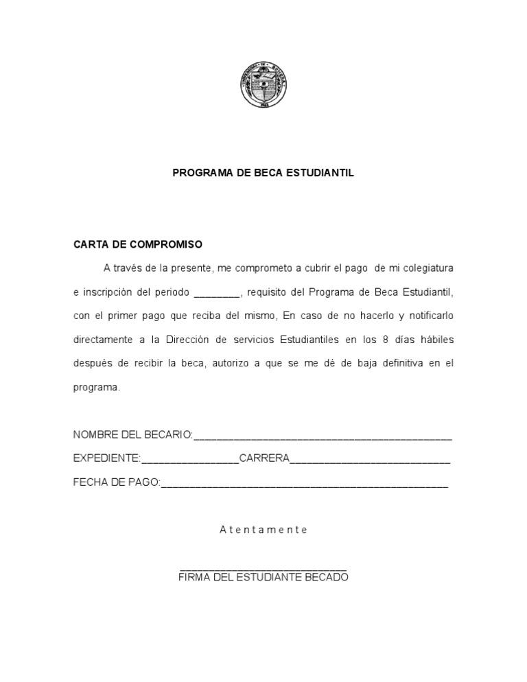 Hermosa Plantillas De Formulario De Compromiso Cresta - Colección De ...