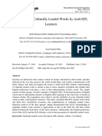 Perception of Culturally Loaded Words by Arab EFL Learners