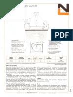 NL Corporation M3250 100w MV Fresnel Lens Downlight Spec Sheet 10-75