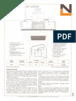 NL Corporation M3301 100w MV R40 9-Inch Square Baffle Downlight Spec Sheet 10-75