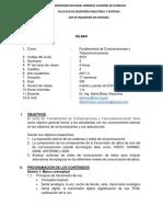 Sílabo Fundamentos de Comunicaciones y Telecomunicaciones