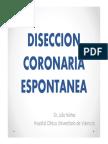 Disección coronaria