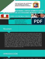 IMPACTO DEL PROGRAMA JUNTOS SOBRE EL GASTO FINAL.pptx