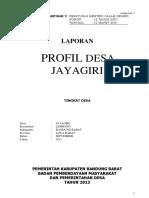 LAPORAN BUKU VI PROFIL DESA JAYAGIRI TAHUN 2013i.docx