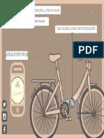 Simple Brown Bike Vintage Postcard