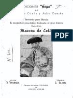 Marcos Celis ( P D torero Fdo Ocaña y Julio Cuesta )