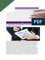 El Desarrollo Del Mercado Financiero Peruano Avanzó 10 Posiciones