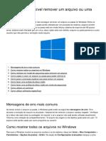 Windows Impossivel Remover Um Arquivo Ou Uma Pasta 1900 Osnmle