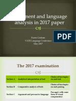 vate language and argument - karen graham