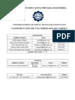 Informe Proyecto Terma Solar