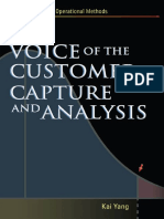 Voice of the Customer - Capture and Analysis
