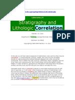 Stratigraphy & Lithology Correlation