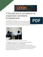 4 Tips Para Que Te Conviertas en Un Programador Autodidacta Inmediatamente