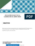 Aplicación de HACCP en La Elaboración de Jamón