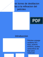 Corrosion en Destilador