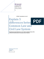 5 differences between Common Law and Civil Law System (detailed with reference)