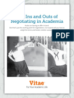 The Ins and Outs of Negotiating in Academia
