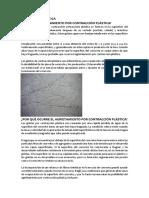 FISURACION PLASTICA