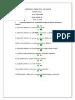 Cuestionario Para Con Diabetes