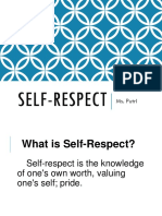 Upper Sec Self Respect Ppt