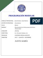 Mantenimiento de Instalaciones Eléctricas Domiciliarias - 2017-I