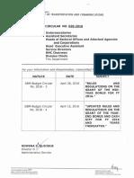 DOTR Memorandum Circular 2016 020-2016