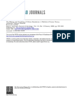 The Making and Unmaking of Ethnic Boundaries a Multilevel Process Theory
