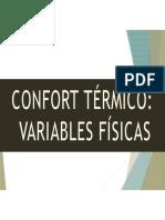 Confort térmico (Variables Físicas)