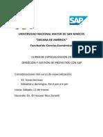 Sap-dirección y Gestión de Proyectos