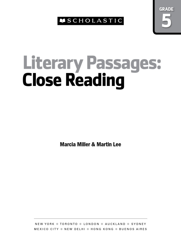 Literary Passages- Scholastic   Reading Comprehension   Reading