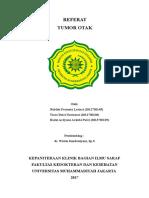 Cover Referat Tumor Otak