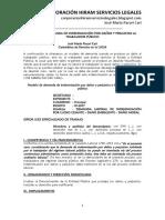 Modelo de Demanda de Indemnización Por Daños y Perjuicios Al Trabajador Público - Autor José María Pacori Cari