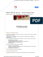 Excel Hyperlinks