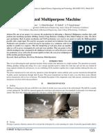 Motorized Multipurpose Machine