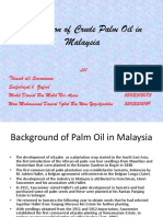 Production of Crude Palm Oil in Malaysia