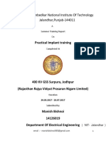 Training Report 400 KV GSS , RRVPNL Surpura , Jodhpur
