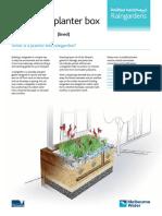Planter Box Rain Garden