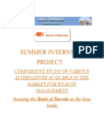 Summer Internship Of MBA in WEALTH MANAGEMENT