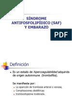 Sindrome Antifosfolipidico y Embarazo