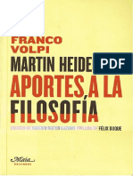 Volpi-Heidegger, Aportes a La Filosofia