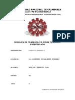 Resumen de Conferencia Sobre Concreto Premezclado
