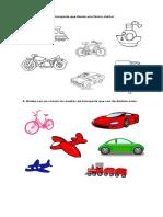 Pinta Los Medios de Transporte de Similar Forma
