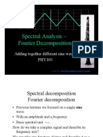 Spectral Analysis Fourier Decomposition