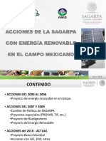 Acciones de SAGARPA Con Energía Renovable en El Campo Mexicano (FIRCO)