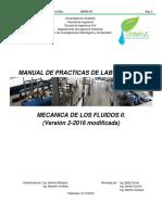 Manual de practicas de laboratorio de mecánica de los fluidos II