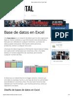 Base de Datos en Excel - Excel Total