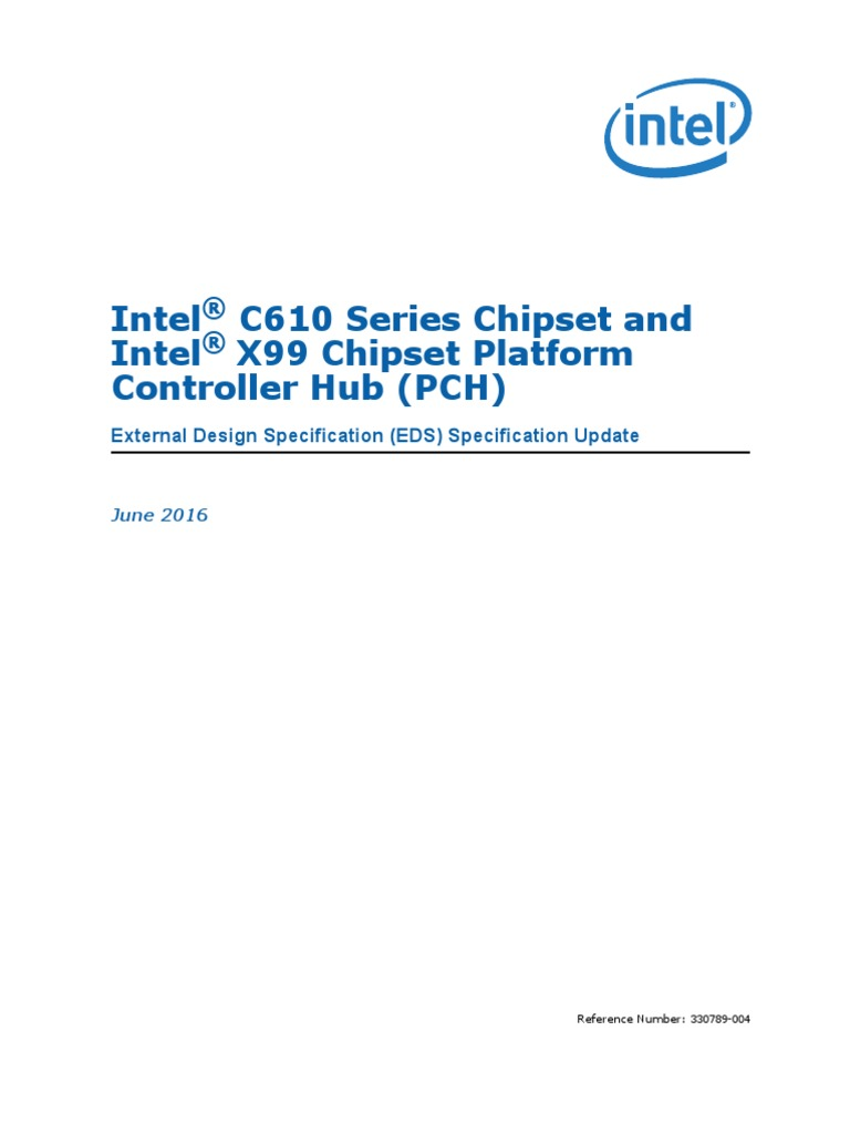 x99-chipset-pch-spec-update pdf | Usb | Physical Layer Protocols