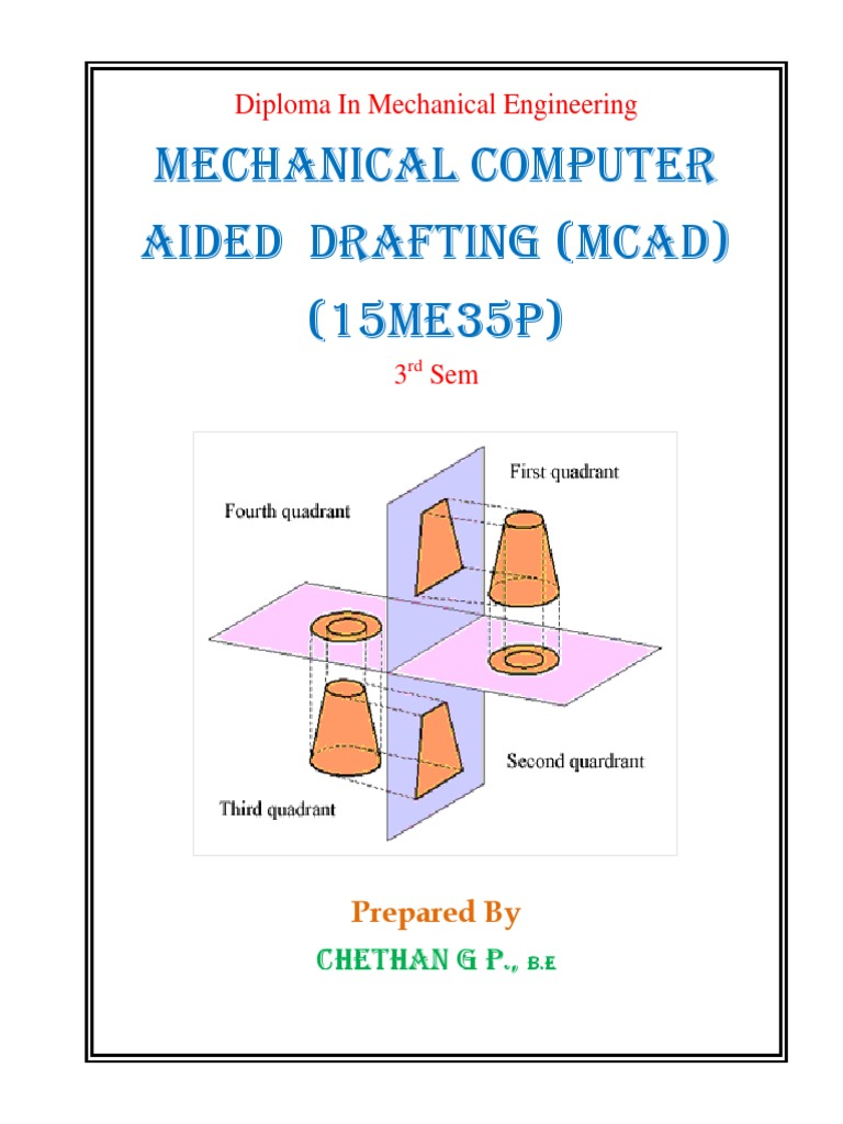 mcad manual technical drawing computer aided design rh scribd com