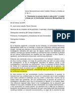 Conferencia. Pablo Latapí Sarre
