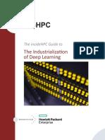 2017hewlett Packard Enterprise Industrialization of Deep Learning